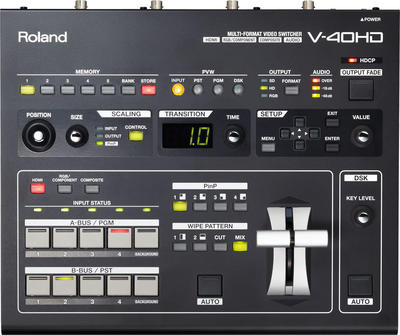 ROLAND V-40HD 4 CH. HD-HDMI VIDEO SWITCHER WITH EMBEDDED AUDIO