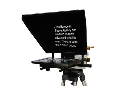 """Autocue Professional Series 12"""" with Folding Hood and Gold Plate - Reading Range: 4.5 m (15ft), Brig"""