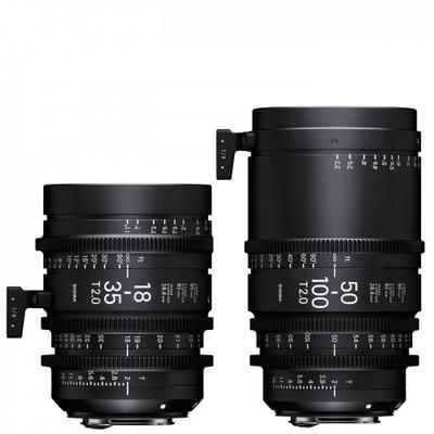 SIGMA 18-35mm + 50-100mm T2,0 Kit (Canon EF) inkl. Koffer