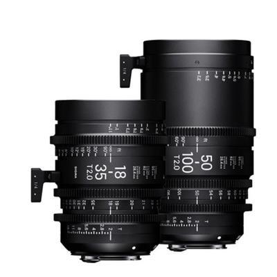 Sigma 18-35 mm + 50-100 mm T 2,0  PL + Koffer PMC-001