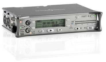 SOUND DEVICES 702T Portable time code-enabled digital audio recorder, 2-channel, CF only, 1)