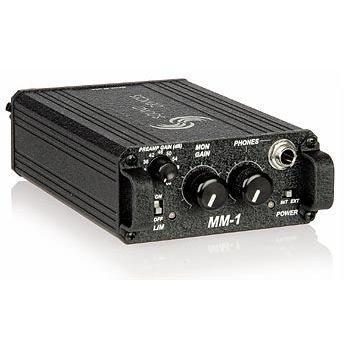 Sounddevices MM-1 Single channel, battery powered microphone preamplifier with headphone monitoring
