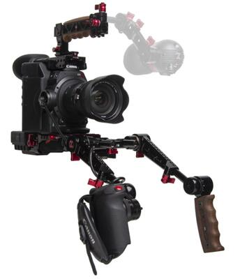 Zacuto Z-C3002ER-PDG - C300 Mark II EVF Recoil with Dual Trigger Grips