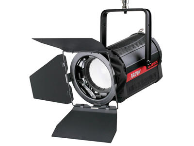 SWIT Studio LED spot light, with Chip-on-board LEDs of 50,000 hours lifetime, and generates 160W lig