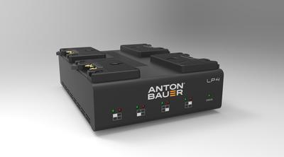 Anton Bauer LP4 Quad Gold Mount Charger - Low Profile Gold Mount priority-based simultaneous four po
