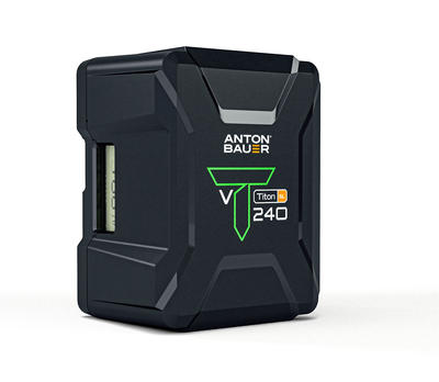 Anton Bauer Titon 240 V-Mount Battery - V-Mount Lithium Ion Battery, 14.4 volts, 238Wh