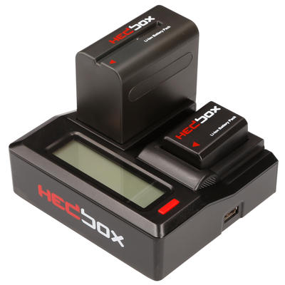Hedbox RP-DC50 | Dual Digital LCD Battery Charger - Changeable Battery plates need to be order separ