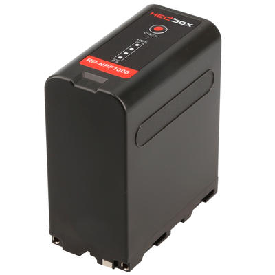 Hedbox RP-NPF1000 | SUPER HIGH CAPACITY Li-Ion Battery 77Wh / 10400mAh, Compatible with Sony DCR-VX2